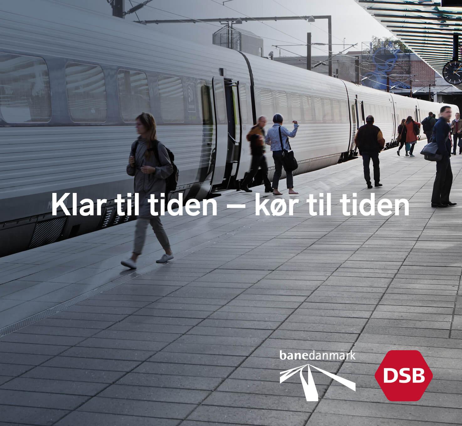 DSB og Banedanmark – design af kampagnemateriale